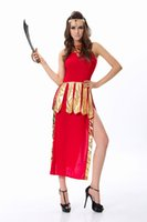 Wholesale Free Shipping Adult Costumes - Wholesale-Free Shipping Red Greek Goddess Sexy Costume. Halloween costumes adult 3F1460 Hot Sale Sexy party costumes