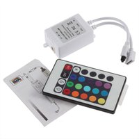 Wholesale Led Color Ir - Dream color LED strip controller 24 keys IR Remote Controller for RGB strip