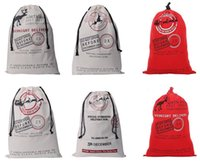 Wholesale Cotton Candy Favors - Santa Sack bag Christmas Stocking Jute Gift Bag canvas cotton elk Santa Claus Drawstring Bags pouch XMAS favors candy gifts wrap festive