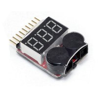 Wholesale Low Electric - low voltage buzzer alarm 1 - 8 s type   li ion   fe battery voltage tester 2in1 best sale