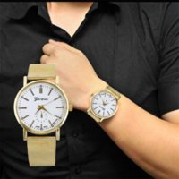 Wholesale Cheap Gold Watches For Men - Superior Hot Selling Classic Gold Quartz Stainless Steel Wrist Watch for Men and Women zh3 Cheap watch computer