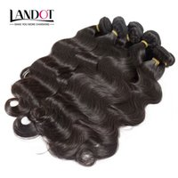 Wholesale Unprocessed Brazilian Hair 1kg - Wholesale Best 10A Brazilian Virgin Hair Body Wave 1KG Lot Unprocessed Peruvian Indian Malaysian Human Hair Weaves Can Bleach UP 2 Year Life