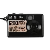 Wholesale Mini Dv Camera 5mp - Hot Digital Camera 5MP HD Smallest Mini DV Spy Video Recorder Camcorder 60 Degrees Free Shipping