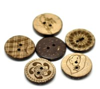 Wholesale Buttons Sewing 23mm - 50 Mixed Pattern Coconut Shell 2Holes Sewing Buttons Scrapbooking 23mm B20372 M67087 Buttons Cheap Buttons