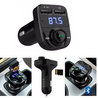 Wholesale Mp3 Player Support U Disk - Bluetooth Car Speakerphone Kit Handsfree FM Transmitter MP3 Music Player Dual USB Car Charger Support TF Card U Disk Player VS S05 T10