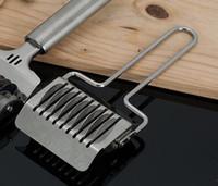 cortador de pastelaria em treliça venda por atacado-Chegam novas Multifuncional Aço Inoxidável Treliça Duro Rolling Cutter / Herb Mincer Utensílios de Cozinha Cozinhar Ferramentas de Cozimento De Pastelaria