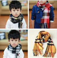 Wholesale Winter Scarf Free Shipping - 11 colors New style hot selling winter soft Imitation cashmere scarf all-match baby warm plaid boy and girl scarf free shipping