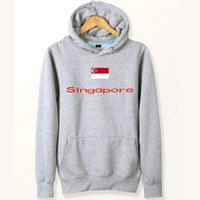 Singapur flag hoodies Nation gute städtische sweat shirts Land fleece kleidung Pullover sweatshirts Outdoor sport mantel Gebürstete jacken