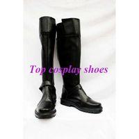 Wholesale Miku Kimono - Wholesale-Freeshipping VOCALOID Hatsune Miku Kimono Black PU Leather Cosplay Shoes boots #GAI073