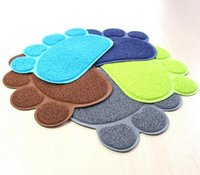 oval table pad - Pet Small Footprint Foot Sleeping Pad Placemat Cat Litter Mat Dog Puppy Cleaning Feeding Dish Bowl Table Mats Wipe Easy Cleaning
