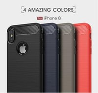 Wholesale Iphone Bumblebee - For iPhone X 5.8INCH Case Carbon Fiber Soft Silicone TPU Cases hybrid ex bumblebee case For Apple iPhone 7 8 Plus