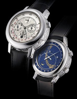 qualitätsband doppelt großhandel-Top High Quality New Herren Automatikuhr Sky Moon Sport Style Double Face Lederband Männer Uhren Armbanduhr kostenloser Versand