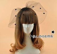 Wholesale Cute Wedding Hair - Black Retro Audrey Hepburn Bridal Hair Accessories Birdcage Cute Wedding Party Veil Dot Bridal Accessories Wholesale