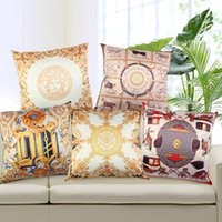 "Wholesale Nordic Knitted - Nordic Royal Luxury Emulation Silk Home Decorative Pillowcases Square Decorative Cushion Cover Throw Pillow Cover 18""*18"" Capas De Almofada"
