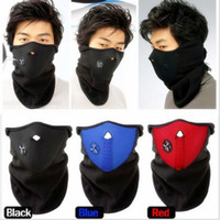 Wholesale Skiing Face mask Outdoor Winter Warm Fleece Face Mask Motorcycle Cycling Snowboard Hood Windproof Bicyle Scarf ski Bibs