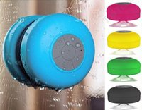 Wholesale Microphone Suction Cup - Waterproof Wireless Bluetooth Speaker Portable Mini Shower Hands-free Suction Cup In-car Built-in Microphone for iPhone Samsung Huawei