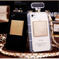 Wholesale Scented Iphone Cases - Perfume Bottle Phone Case Luxury TPU Scent Bottle Cases with Hang Rope Cover for Iphone 7 8 6 6s plus 5s SE Samsung s6 s7 edge note 4 5 s8