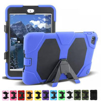 Wholesale Military Duty Hard Case - For iPad Mini 1 2 3 4 Shock Proof Military Heavy Duty Hard Case Cover 12 Colors 1:1 shockproof defender case Free Shipping