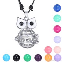 Wholesale Animal Callers - 2016 Fashion Angel Callers Sound Chime Love Animal Love Owl Hollow Locket Pendant Without the Ball Necklace Mexican Bola