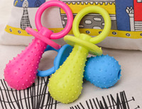 Wholesale Toy Cats For Sale - wholesale New Arrival Rubber Pacifier for Pet Toys Dog Cat Puppy Chew Toys with Bell Sound Inside hot sale
