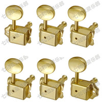 Wholesale Gold Tuning Heads - 6PCS set 6R Colour gold vintage guitar Tuner Electric guitar strings button Tuning Pegs Keys Machine Heads Guitar PartsMusical instrument