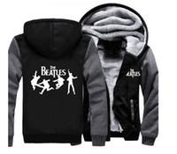 Wholesale Beatles Hoodie - Wholesale fashion brand new Hooded Sweater New Teenage Hoodie The Beatles Cardigan Jacket Men '