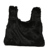 Inverno Fur Women Handbags Tote de couro Designer Ladies Clutch Bolsas Femininas Party Evening Bag