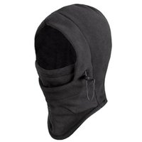 Wholesale Biker Hats - 2 pcs Winter Windproof Sport Face Masks Ski Motorbike Biker Gear Black Masks Unisex Hood Hats Cycling Caps