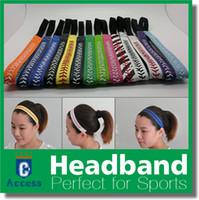 Wholesale Yellow Leather Softball Headbands - 2018 Yellow leather fastpitch softball girls headbands Softball craftsl team gifts