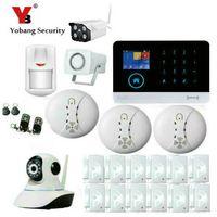Wholesale Outdoor Housing Ip Camera - Wholesale- YobangSecurity Outdoor Indoor IP Camera WIFI GSM GPRS House Burglar Intruder Alarm System Android IOS APP Wireless Strobe Siren