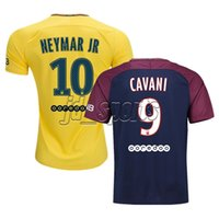 Wholesale 2017 Paris SG Futbol Camisa Neymar Jr Di Maria Lucas Matuidi Cavani Verratti Soccer Jerseys Football Camisetas Shirt Kit Maillot Ligue