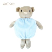 Wholesale Cheap 12 Doll - Wholesale-Ingrace soft and cute baby dolls super high quality toddler bear toys no Fluff safe for baby 3 colors sleeping calm doll cheap
