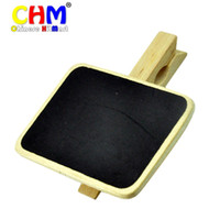 Wholesale Mini Clip Boards - Wholesale-Mini Chalkboard with Wooden Blackboard Clip for Message Board Signs Pack of 20pcs #WJ001