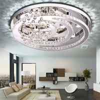 Wholesale K9 Crystals Design - New Design K9 crystal LED chandelier ceiling lights for living room bedroom modern Pendant lamp Indoor LED lighting