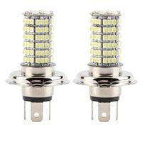 Wholesale h4 led high low beam - 2 pcs H4 DC12V 120LED SMD High Low Beam LED Fog Light Headlight Lamp White hot selling