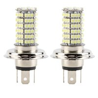 h4 alto bajo al por mayor-2 unids H4 DC12V 120LED SMD High Low Beam LED faro antiniebla lámpara venta blanca caliente