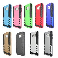 Wholesale S4 Impact Covers - Hybrid Rugged Impact Soft TPU Defender rocket Case Hard Cover For Samsung Galaxy S4 S5 S6 S7 edge note3 4 5 shockproof rocket