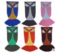 Wholesale Owl Birthday - Winter Sleeping Bag Owl Animal Blanket Knitting Children Adult Birthday Mermaid Blankets Christmas Gifts 11 Style DHL Free Shipping