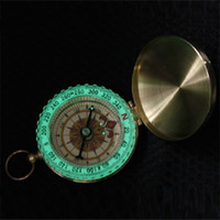 Wholesale Golden Keychain - Silver Golden Copper G50 Portable Travel Hiking Outdoor Classic Brass Compass Camping Pocket Watch Style Compass Keychain Flip Noctilucence