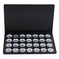 Wholesale Empty Eyeshadow Pans - LCBOX Personalized 28pcs Grid Empty Eyeshadow Concealer Aluminum Pans With Palette Makeup Tools Cosmetics DIY Box Fashion Trend