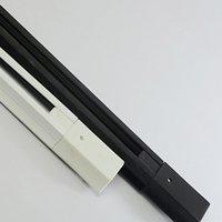 breite lampe geführt großhandel-Schiene Für LED-Tracking-Lichter enthalten die Lampe 1 Meter 4 cm Breite Schwarz-Weiß-Farbe zur Auswahl