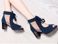 Wholesale Moolecole Sandals - Moolecole 2016 new arrival high-heeled shoes fashion vintage pumps,ladys sexy sandals for women, free shipping