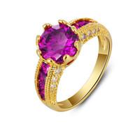 Wholesale Titanium Zircon Rings - European and American jewelry explosion models zircon couple rings Hot 18K rose gold diamond trade jewelry wholesale