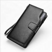 Wholesale New Design Leather Key Chain - 2016 New Men Wallets Wallet Purse Casual Men Clutch Bag leather Design long Wallet Men Gift for Men