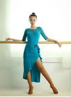 Wholesale Samba Dancing Clothes - 3 color 2016 New Latin Rumba Samba ballroom dance costume on dress lace T-shirt skirt + Latin clothes suit