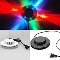 Wholesale Multi Effects Light - Sunflower 48LED RGB Bar Party Disco DJ Effect Light Stage Lighting Party Auto Rotating Club Dazzling Light Party Decoration CCA7592 20pcs