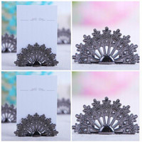 Wholesale peacock table resale online - Table Decoration Casamento Vintage Peacock Place Card Holder Wedding Party Decoration Wedding Centerpieces Decoracao