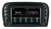 Android 7.1 Car DVD Navigation GPS para Mercedes Benz SL R230 2001 2002 2003 2004 com rádio BT TV USB AUX Audio Video Estéreo