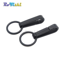 Wholesale Snap Gloves - 100pcs lot Gloves Hook Plastic Buckles Snap Hook With O-Ring Black