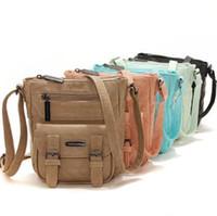 Wholesale Wholesale Messenger Purses - 5 Colors Retro Messenger Bag Cross Body Bag Fashion Shoulder Bag Satchel Bags Mobile Phone Bags Purse Cosmetic Bags Organizer CCA6897 10pcs